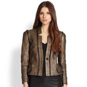 Rachel Zoe Metallic Cotton Tracy Blazer, XS-S
